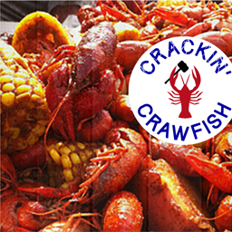 In Crawfish Seafood And Logo