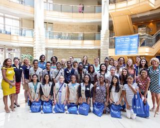 Girl Scouts visit TIAA