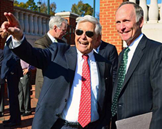 Hugh McColl with Chancellor Phil DuBois