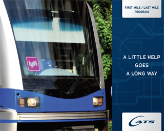 LYNX train with Lyft logo
