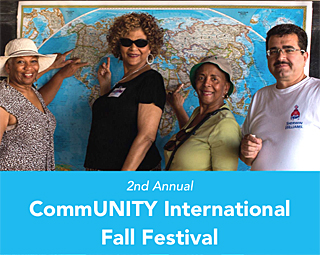 Celebrate our international CommUNITY on Oct. 27