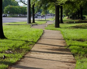 Clean and mowed W.T. Harris Boulevard