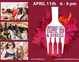 Taste, Sip & Stroll April 11