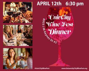 Wine Fest Dinner April 12