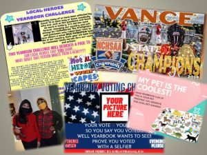 Vance High yearbook promotion