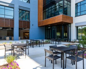 Escent Research Park courtyard